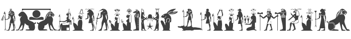 101! Hieroglyphic Dieties font family