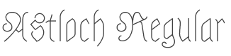 Astloch font preview
