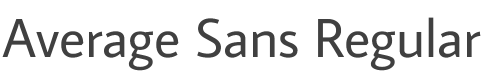 Average Sans Regular font family