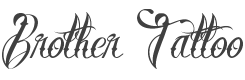 Brother Tattoo font family