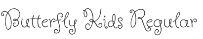 Butterfly Kids Font preview