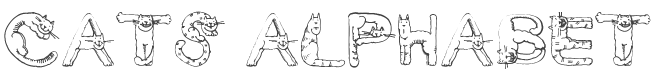 Cats Alphabet Font preview
