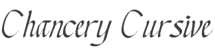Chancery Cursive font family