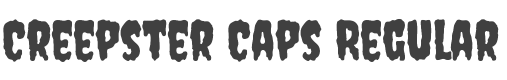 Creepster Caps font family