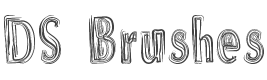 DS Brushes Font preview