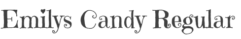 Emilys Candy font family