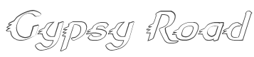 Gypsy Road Outline Italic font