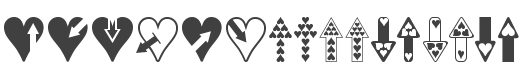 Hearts n Arrows font family
