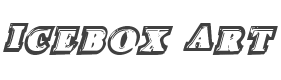 Icebox Art Staggered Italic font