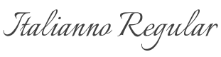 Italianno font preview