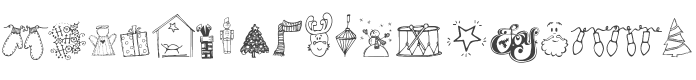 Janda Christmas Doodles font preview