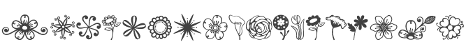 Janda Flower Doodles Font preview