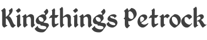 Kingthings Petrock font family