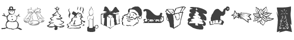 KR Christmas Dings Three font preview