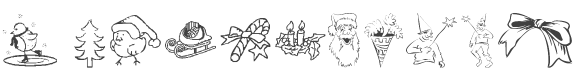 KR Christmas Jewels 2005 3 font preview