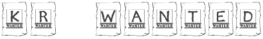 KR Wanted font family