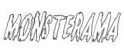 Monsterama Outline Italic style