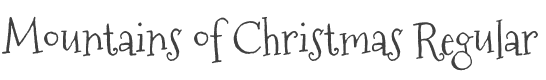 Mountains of Christmas font family