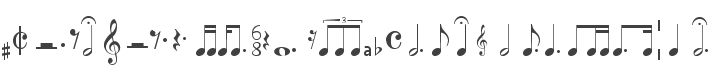 7 Free Musical note Fonts » Fontsc