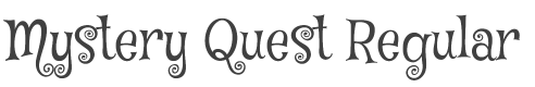 Mystery Quest font family