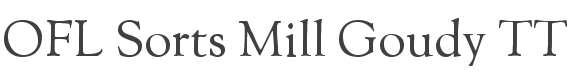 OFL Sorts Mill Goudy TT font family