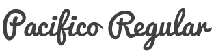 Pacifico font family