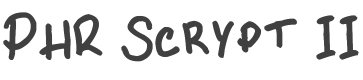 PHR Scrypt II font family