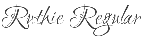 Ruthie font family