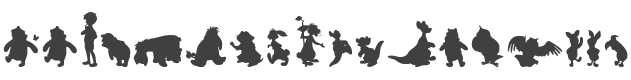 Winnie Silhouettes Font preview