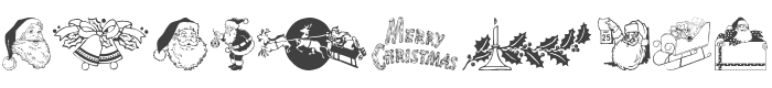 Xmas Clipart font preview