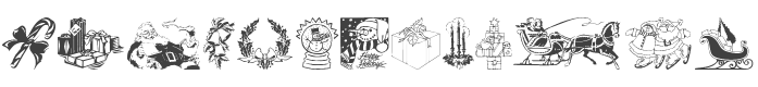 Xmas Clipart 2 Font preview