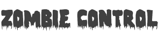 Zombie Control Font preview
